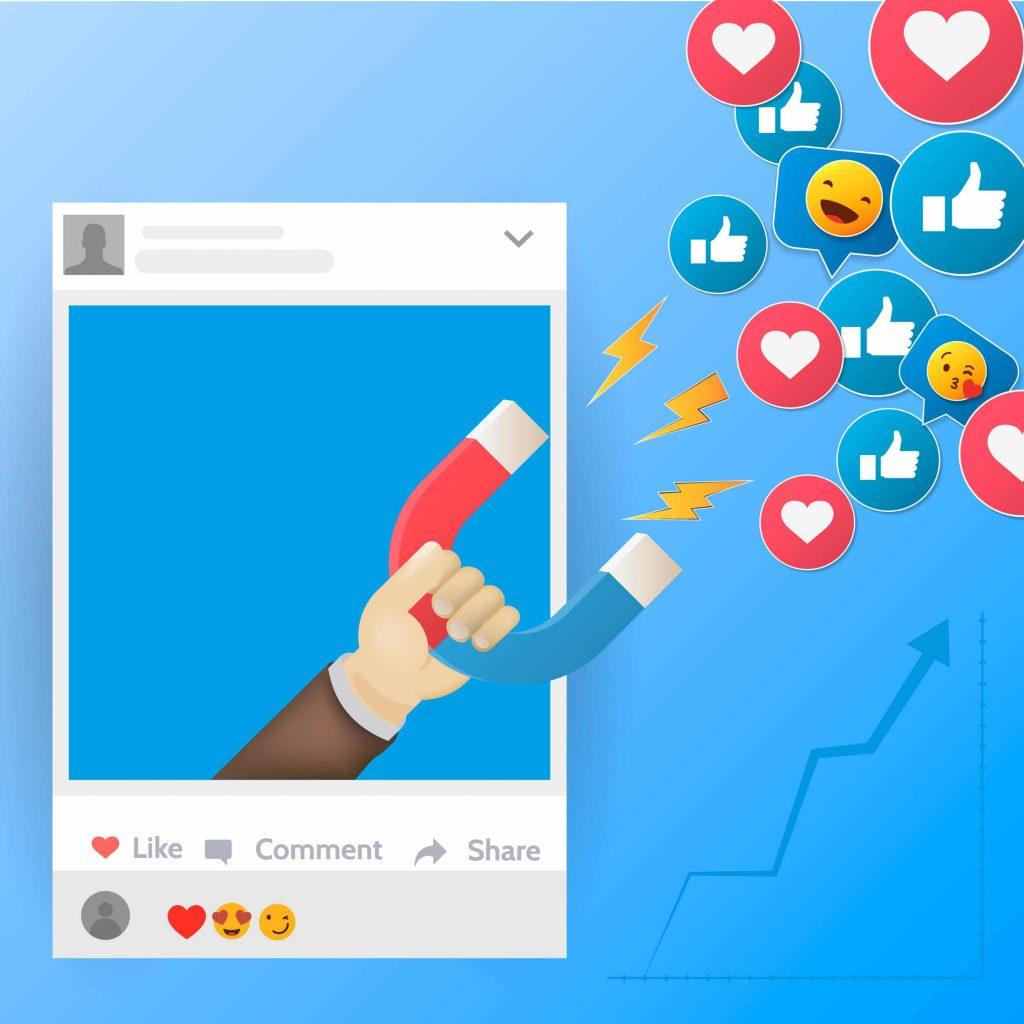 Contenido relevante que genera reacciones de las personas en Facebook